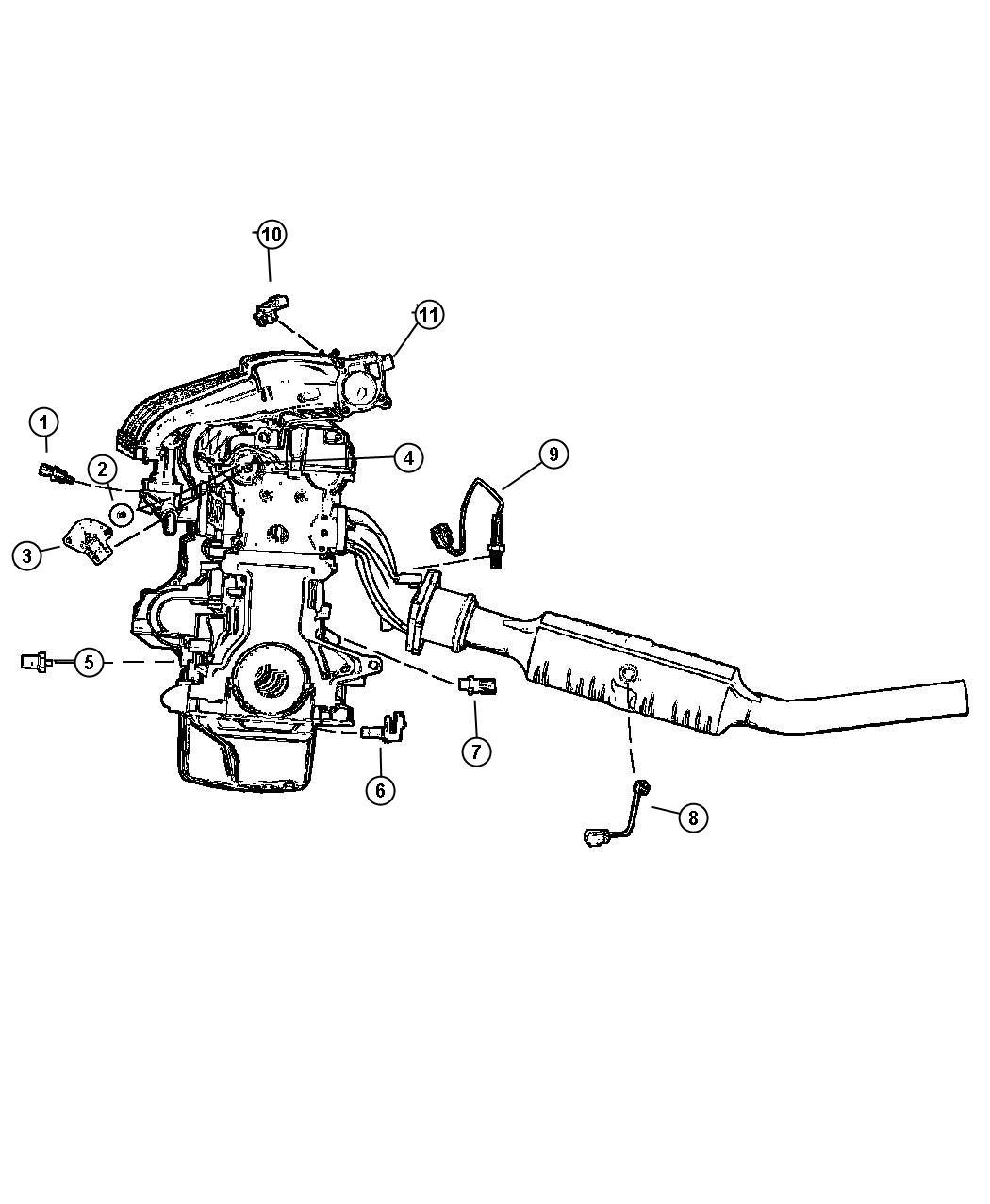 Chrysler Sebring Sensor Package Camshaft
