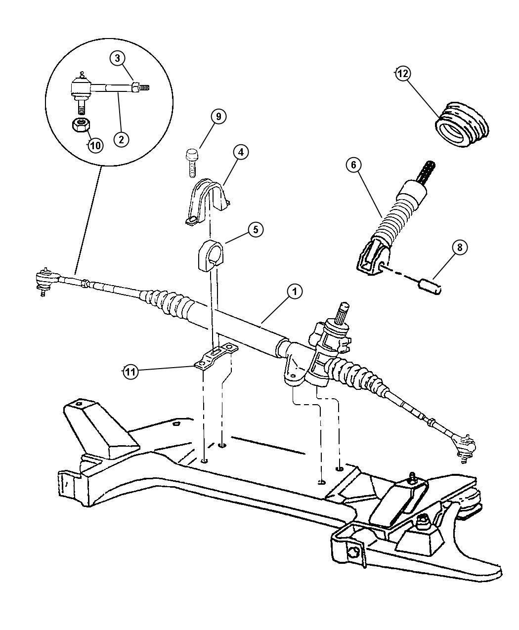 Jeep Patriot Switch Power Steering Power Rack And