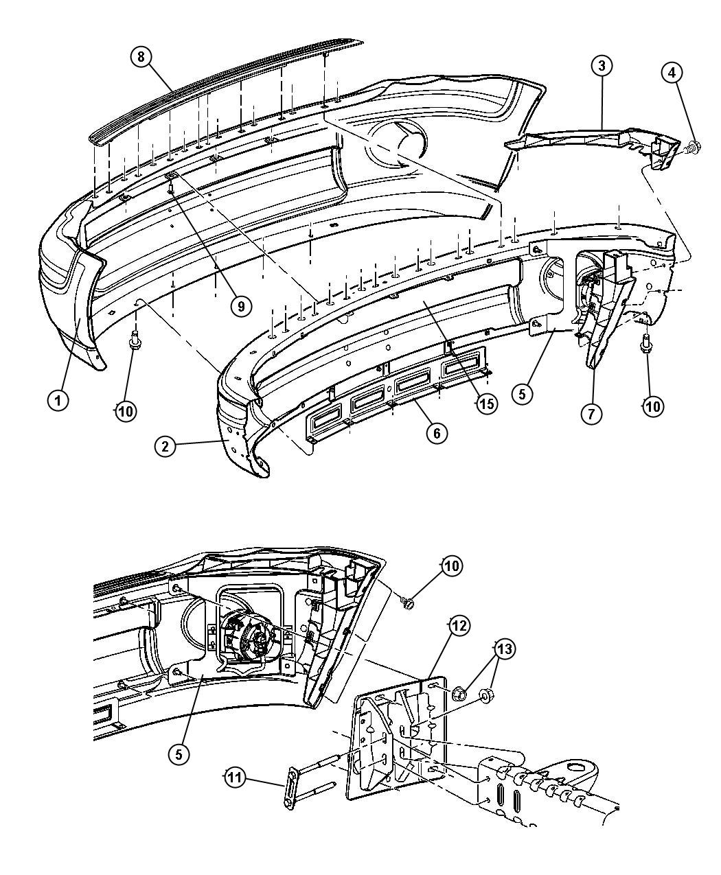 Dodge Ram Panel Front Bumper Air Close Out