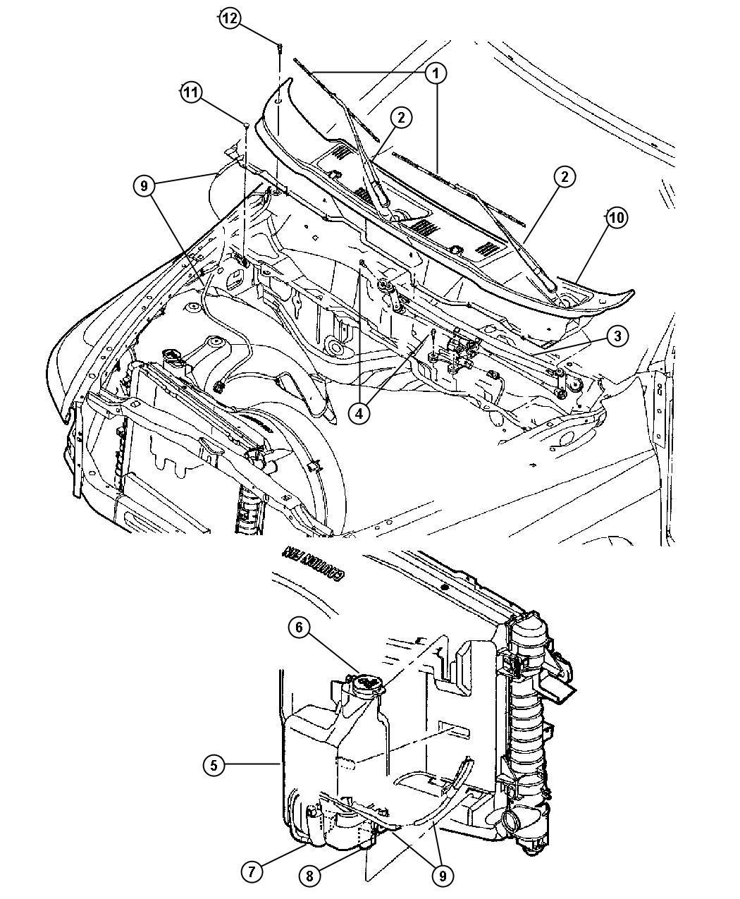Dodge Ram Module Wiper Windshield Washer