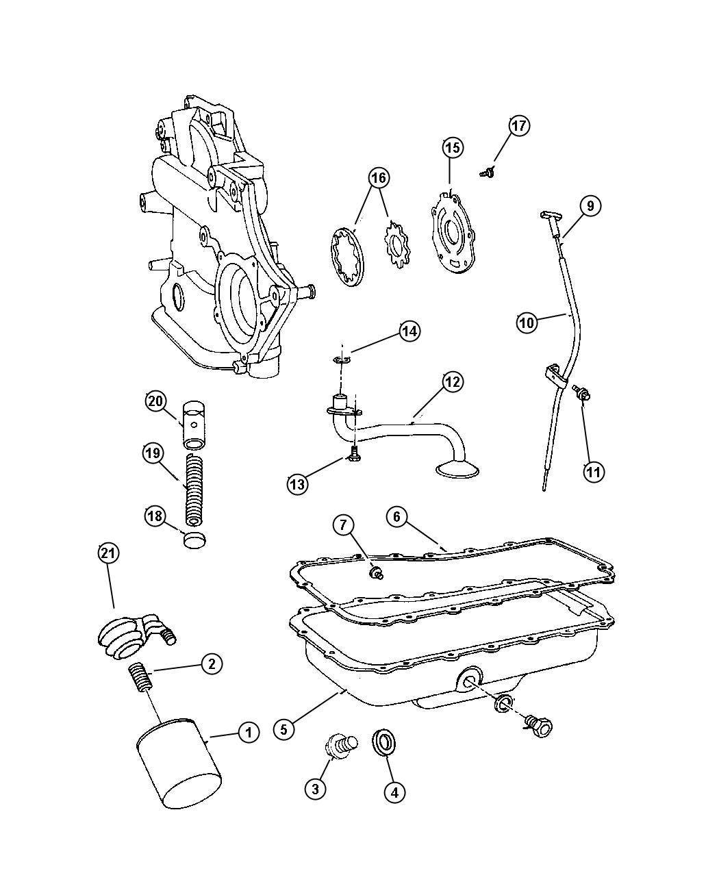 Dodge Grand Caravan Adapter Connector Oil Filter 3