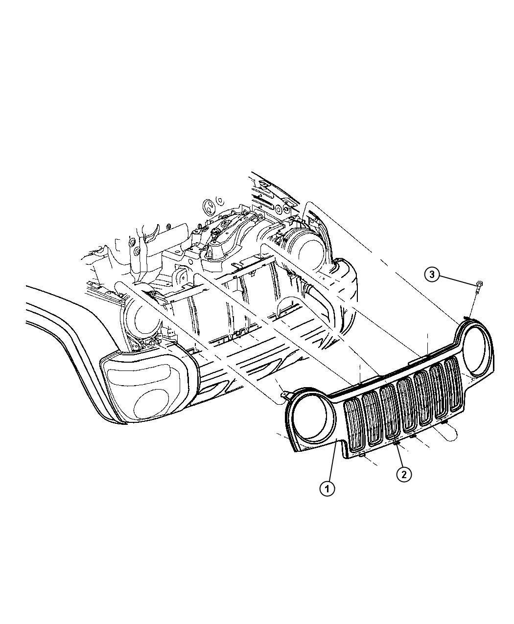 Dodge Ram Grille Radiator Graphite Grille