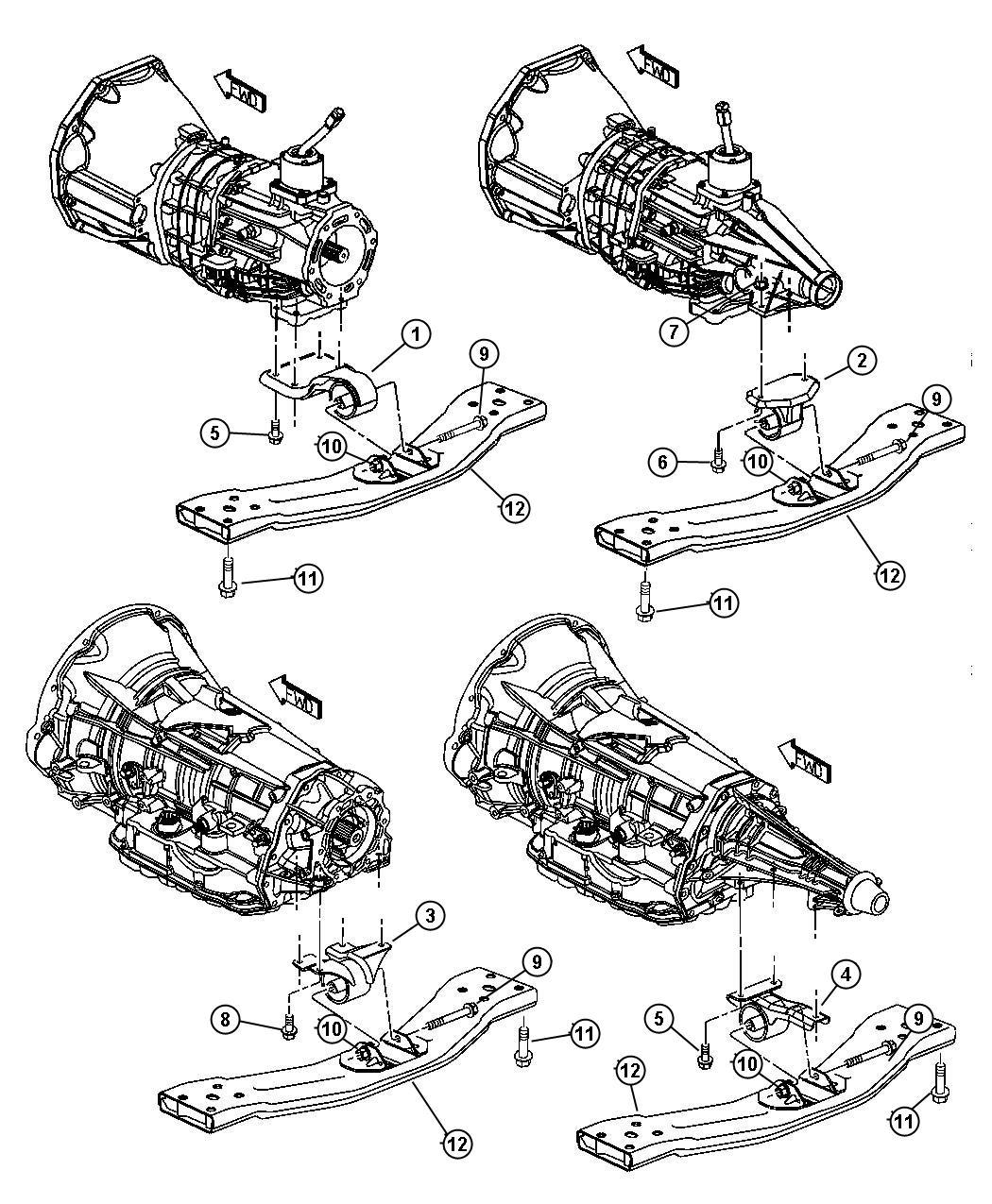 Chrysler Sebring Used For Bracket And Insulator