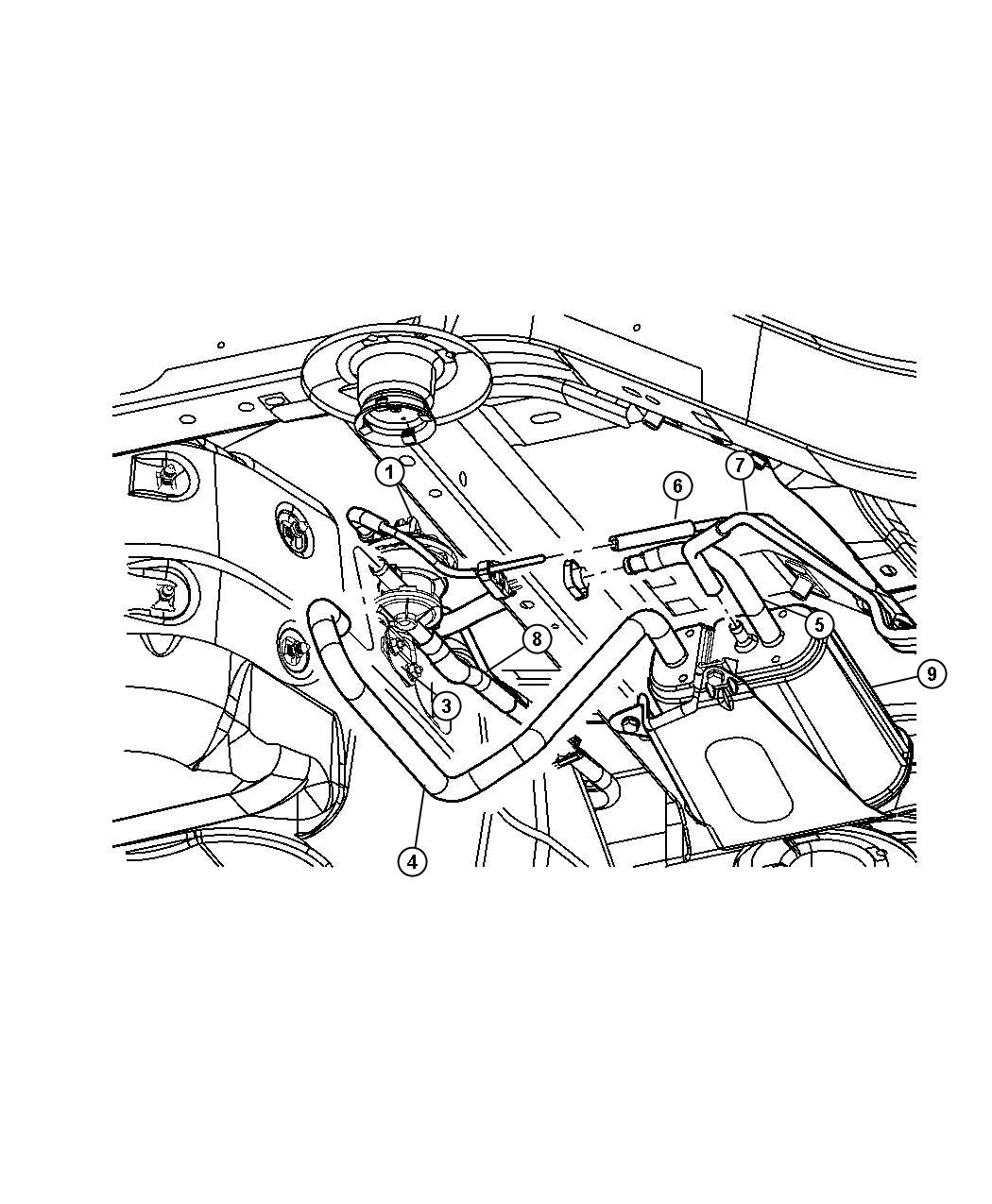 Dodge Avenger Hose Canister To Vent Valve Engine