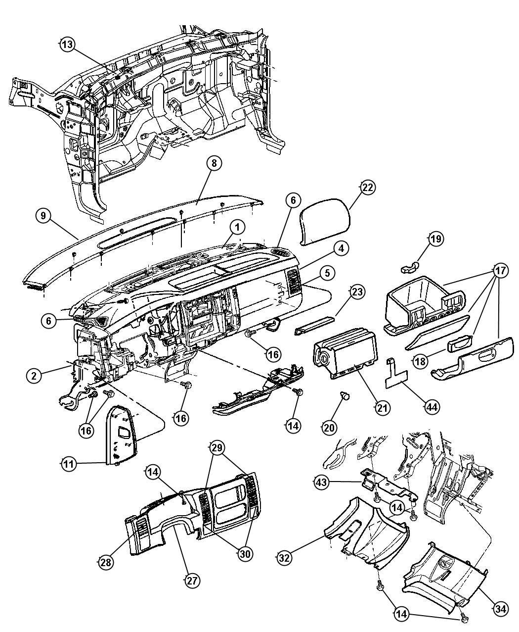 Dodge Durango Reinforcement Instrument Panel Trim