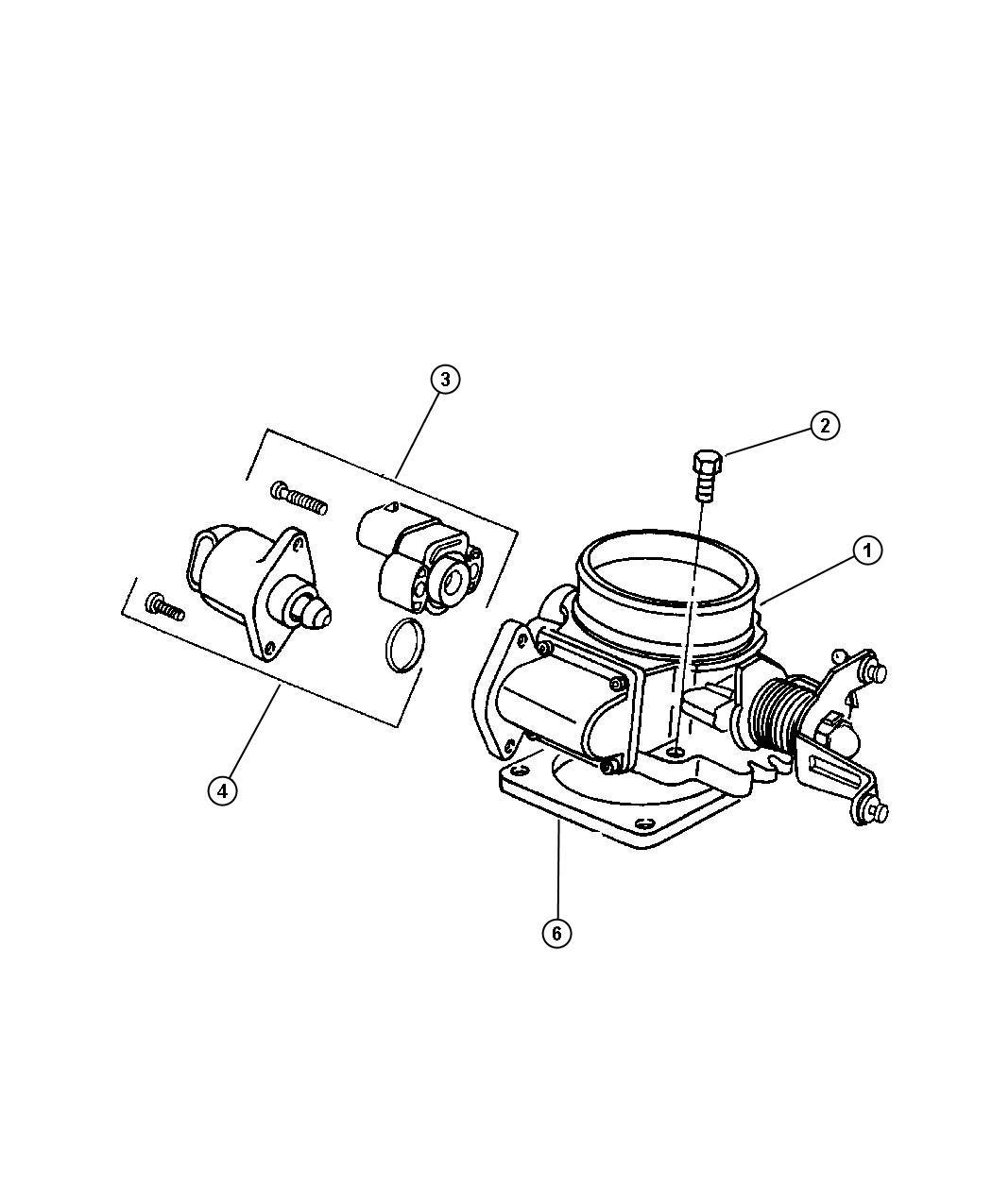 Dodge Caravan Sensor Kit Throttle Position Engine