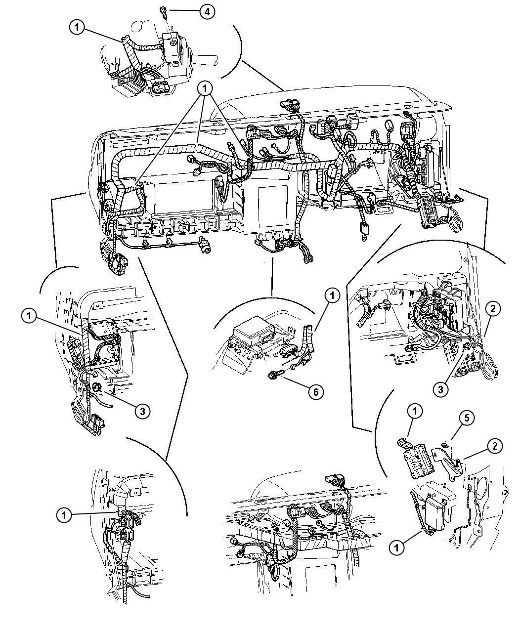 Dodge Dakota Flasher Instrument Wiring Panel