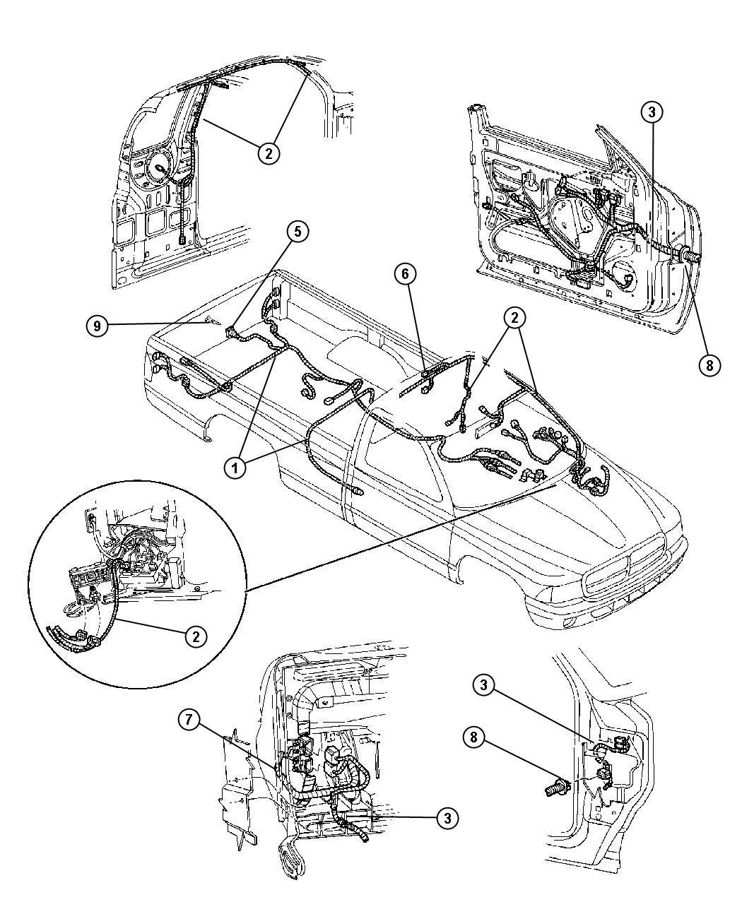 Dodge Dakota Wiring Body