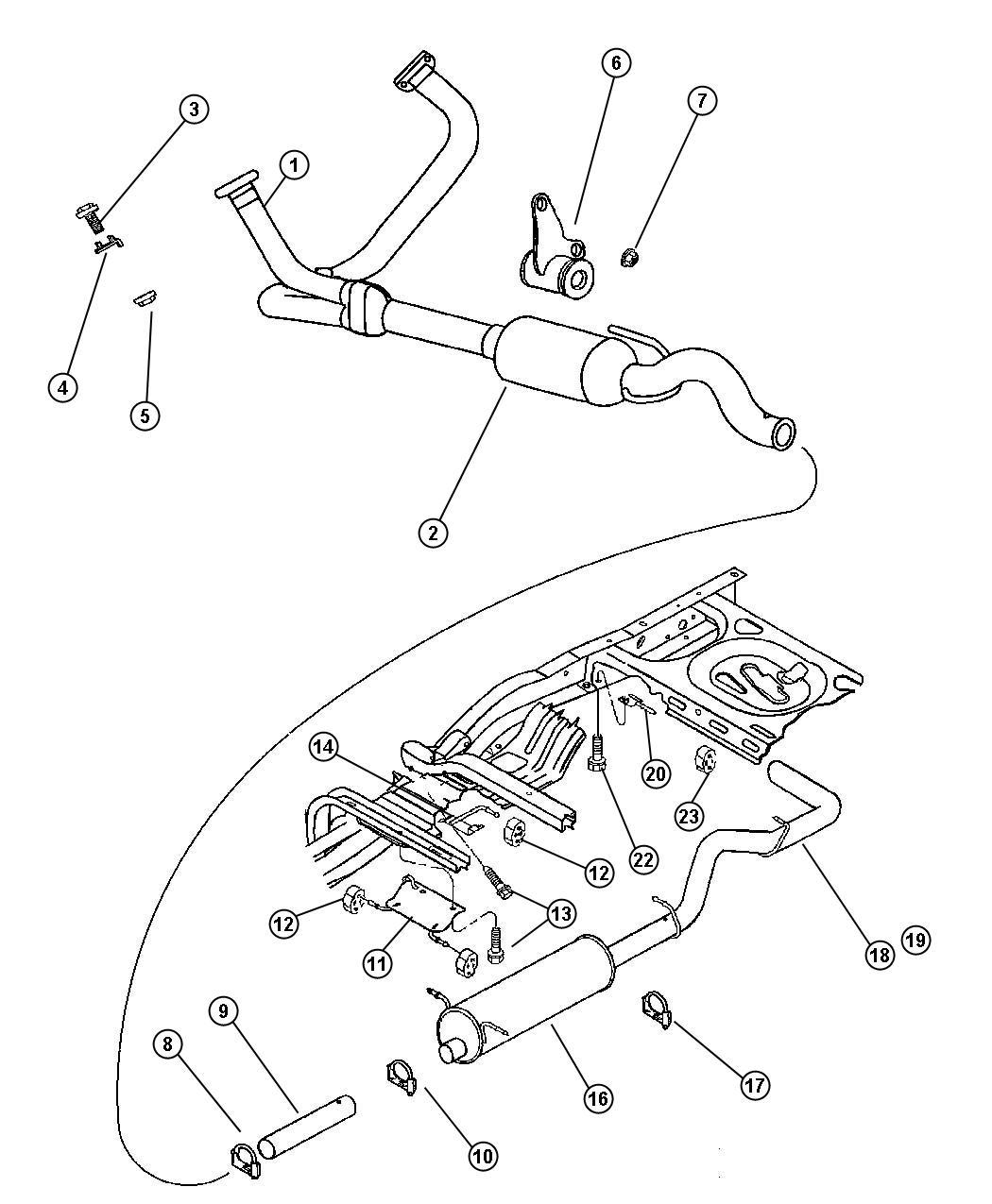 2001 Dodge Dakotum Exhaust Diagram