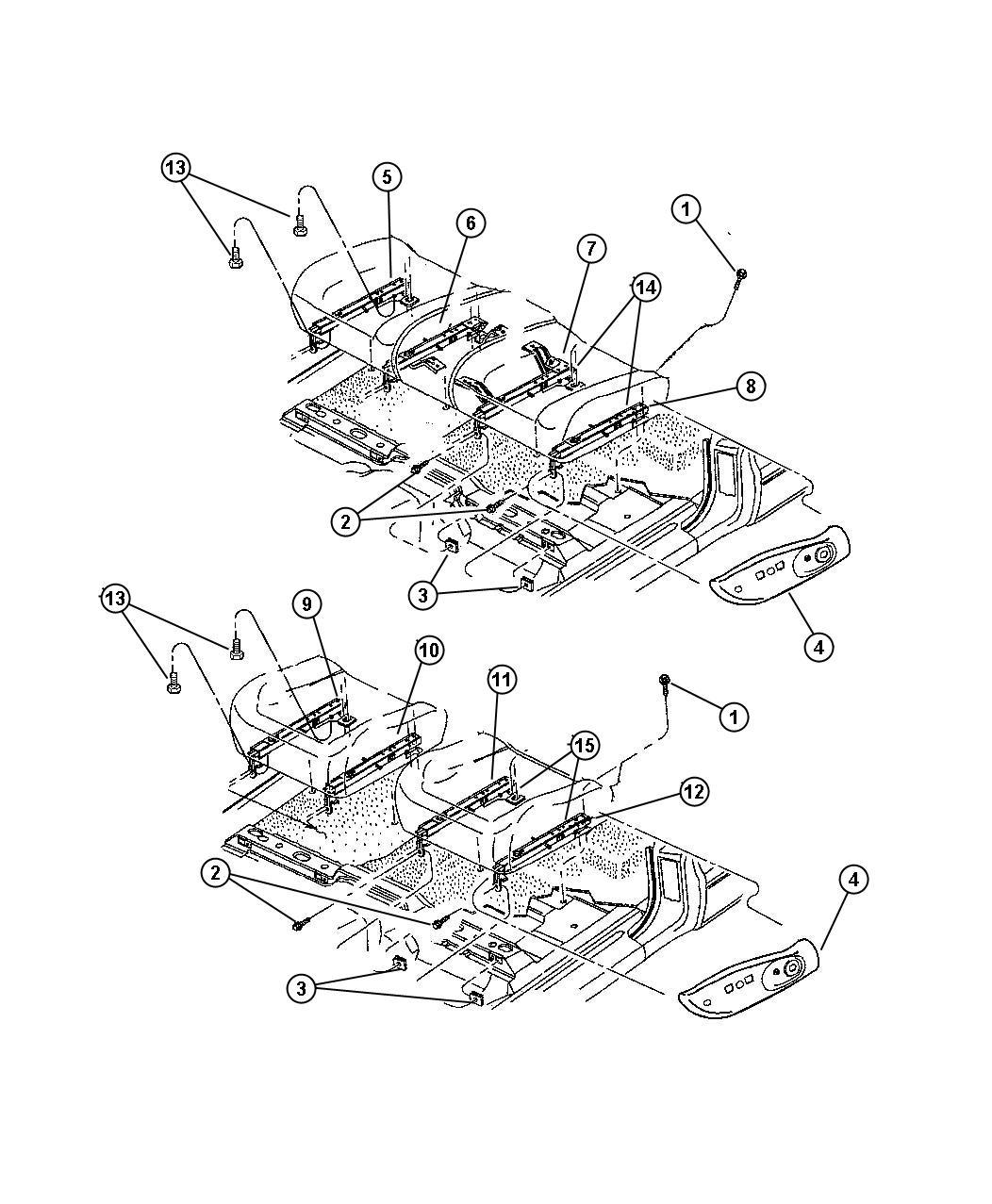 Dodge Dakota Adjuster Power Seat Driver Bucket Seats