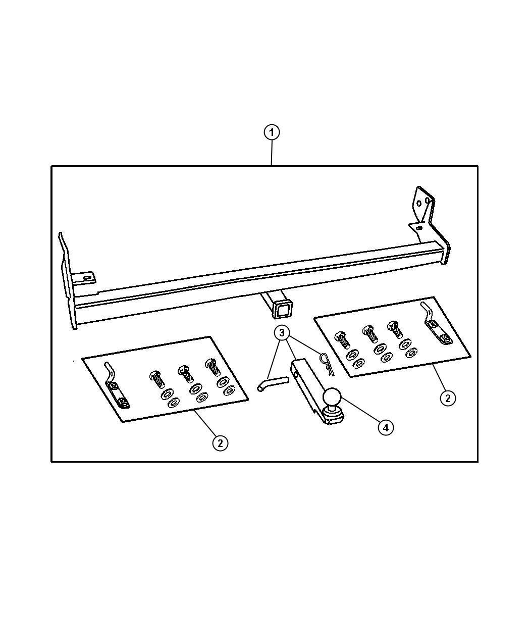Dodge Grand Caravan Adapter Kit Drawbar Attachment