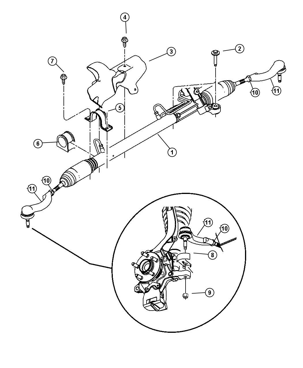 Dodge Stratus Gear Power Steering Steering