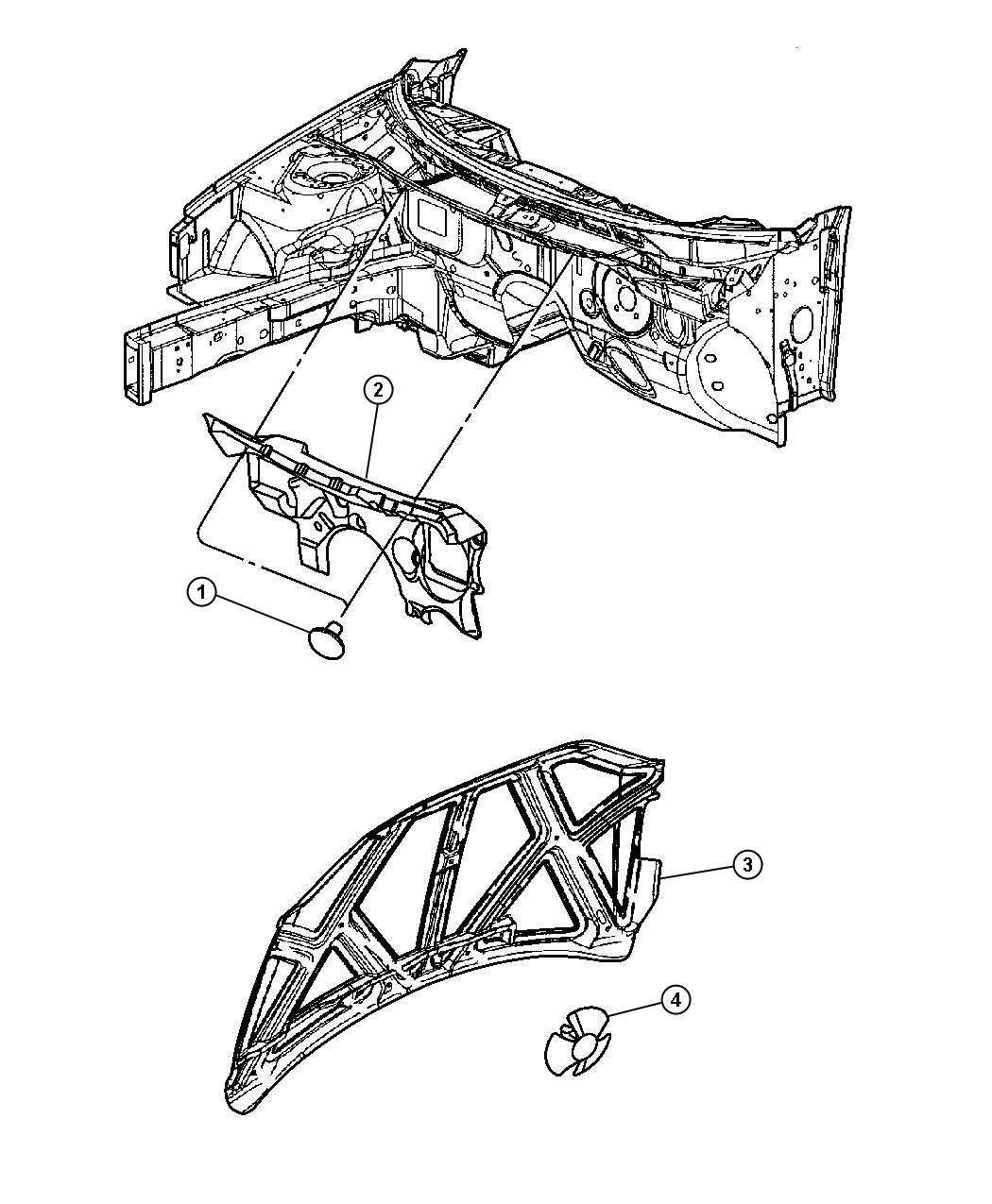 Chrysler Sebring Silencer Dash Panel Engine Compartment