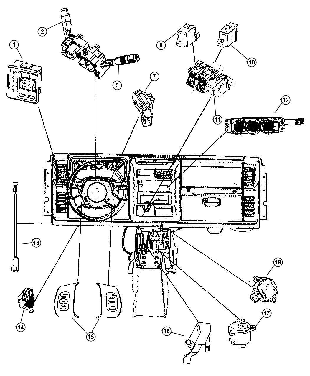 Jeep Wrangler Switch Windshield Wiper Rear Trim
