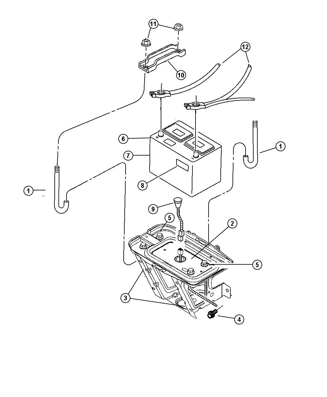 Jeep Wrangler Reinforcement Battery Tray Right