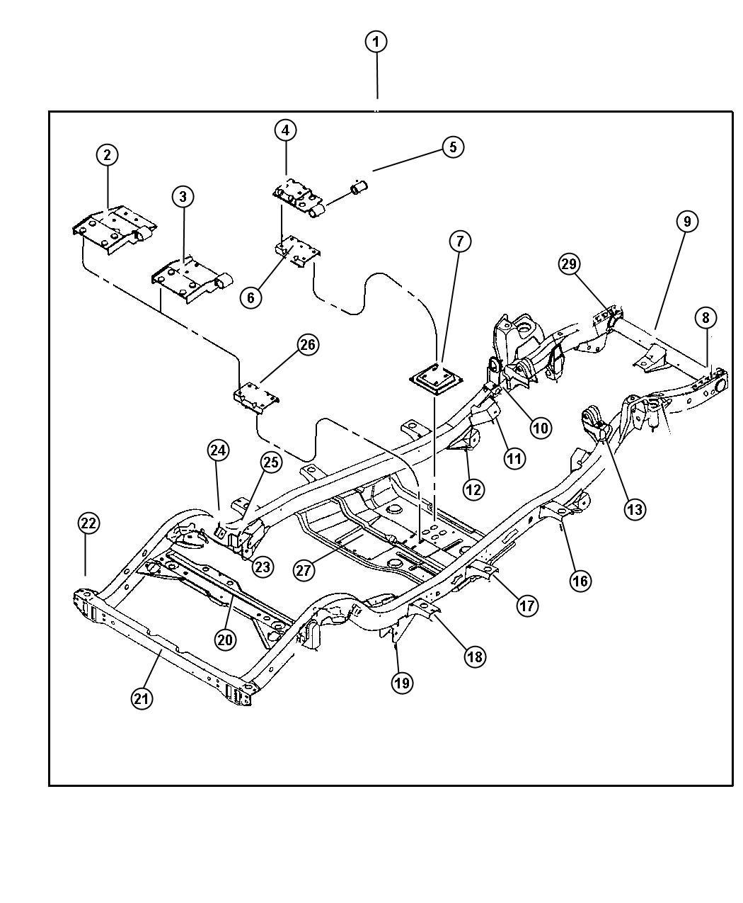 Dodge Caliber Nut Rivet Mounting M12x1 75x29 59