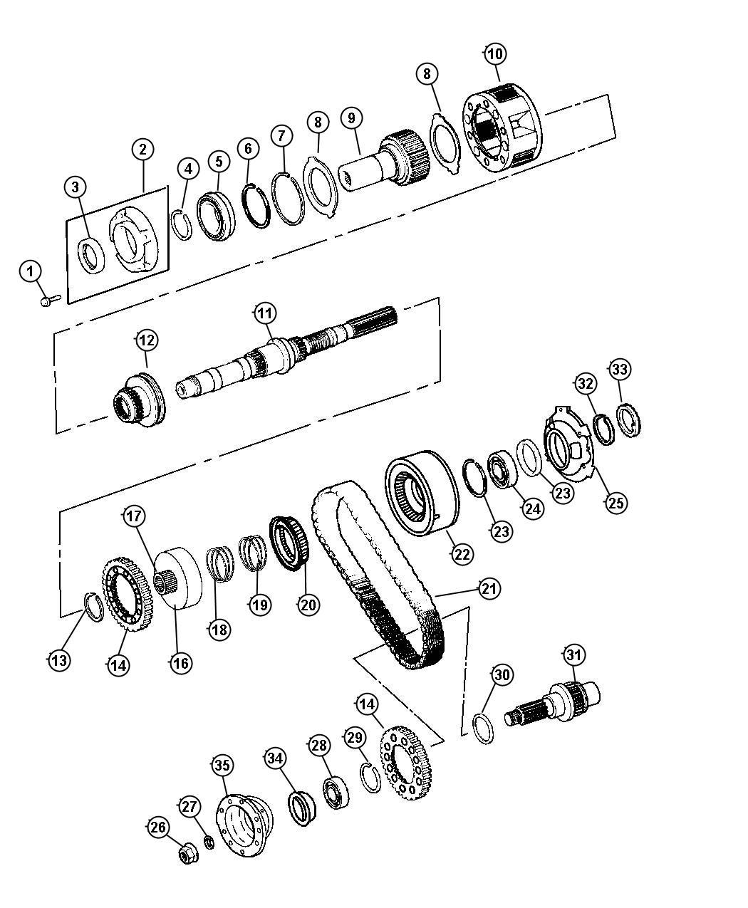 Dodge Nitro Yoke Transfer Case Output 494