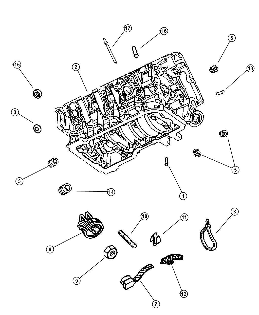 Jeep Grand Cherokee Block Short Engine Oil Mpi