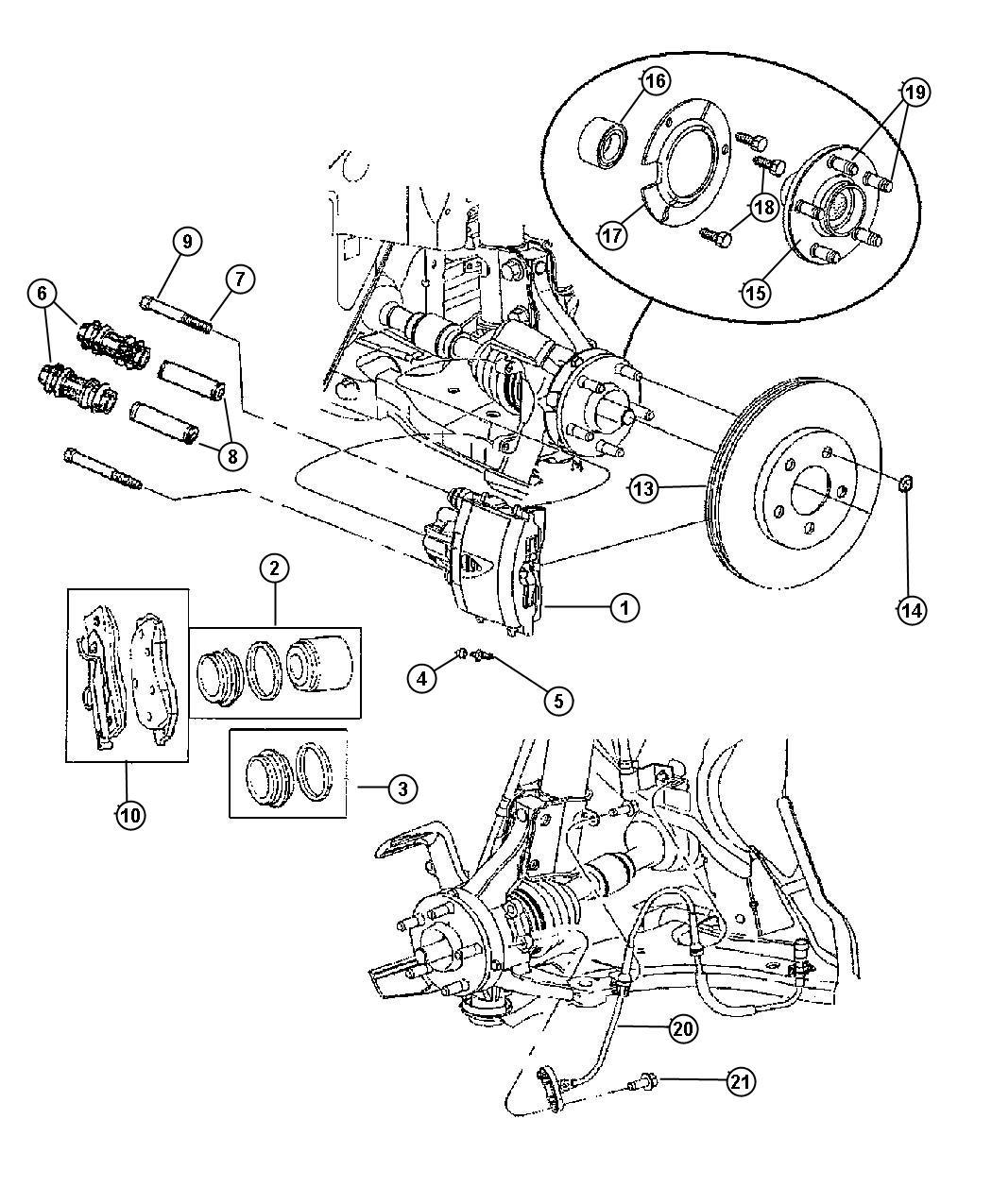 Dodge Neon Rotor Brake Anti Lock 4 Wheel Disc