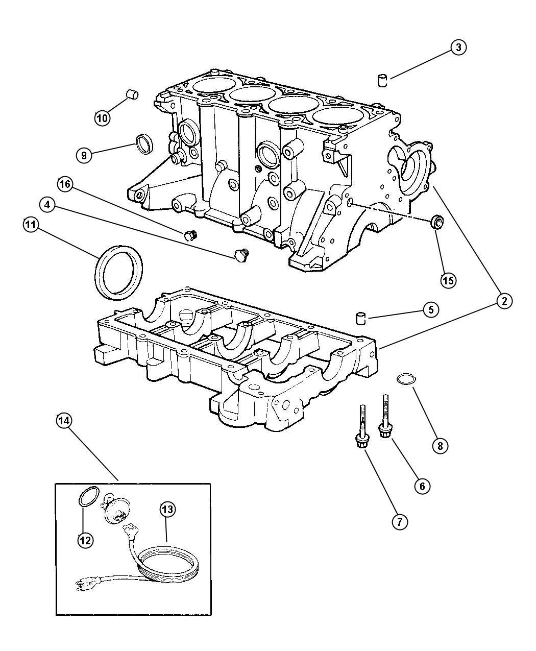Dodge Stratus Gasket Package Engine Lower Emissions