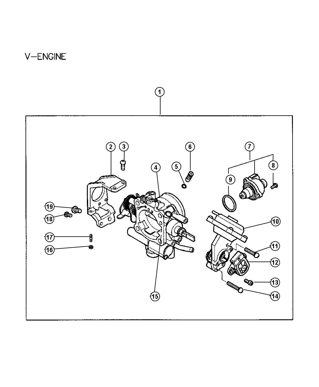 Dodge Stratus Throttle Body Package Fuel Engine Mmc