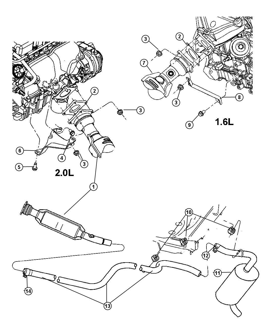 Chrysler Pt Cruiser Converter Catalytic Export Exhaust