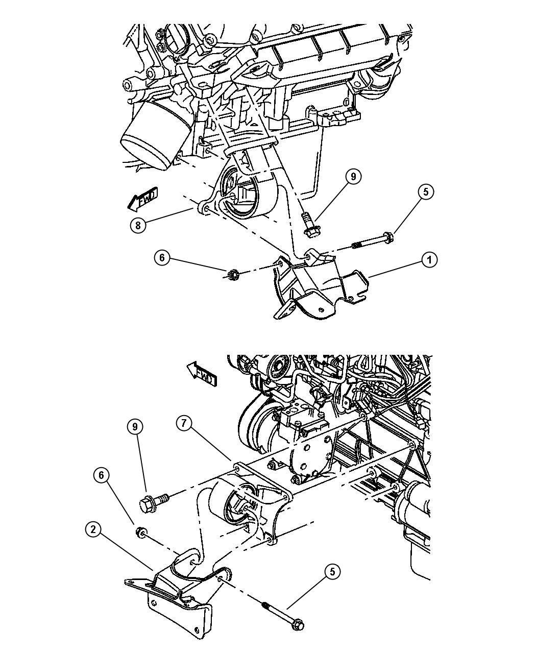 Dodge Stratus Insulator Engine Mount Left Left