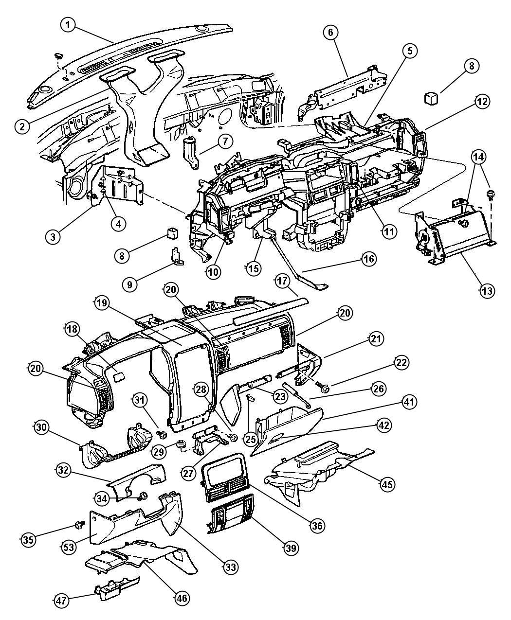 Dodge Durango Cover Fuse Access Panel Instrument