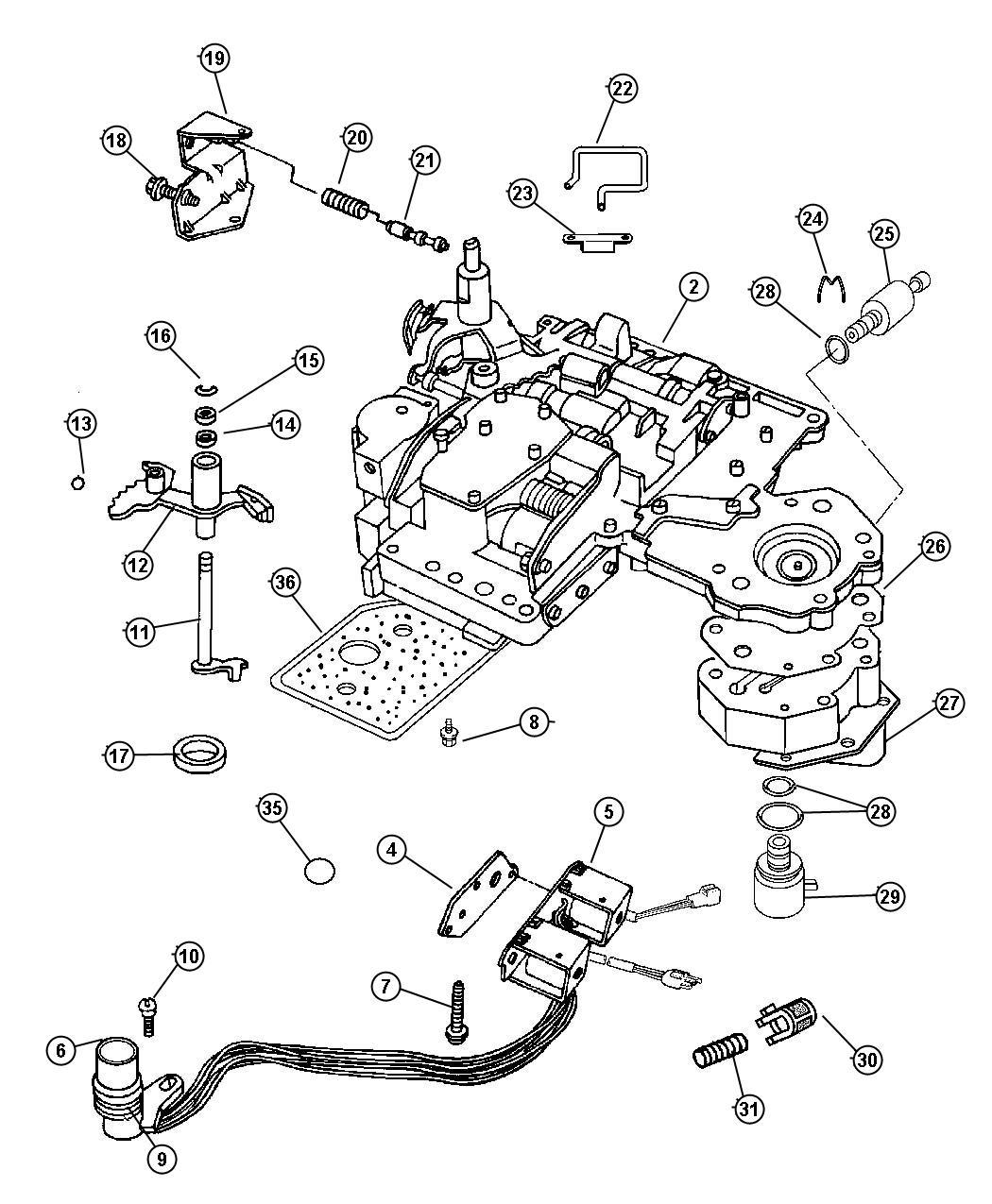 Chrysler 300 Valve Regulator Body Dgp Shaft