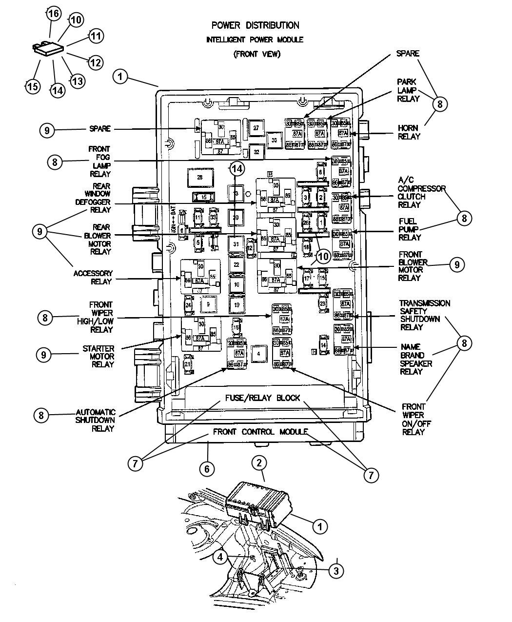 Jeep Liberty Module Front Control System Speaker
