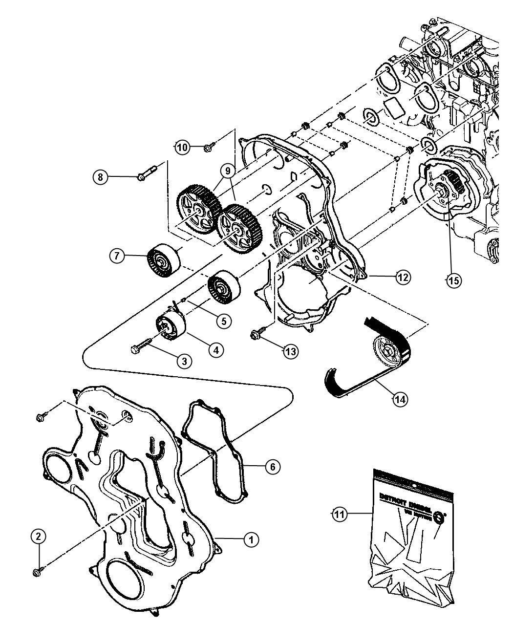 Jeep Compass Gear Balance Shaft Engine Belt Cover