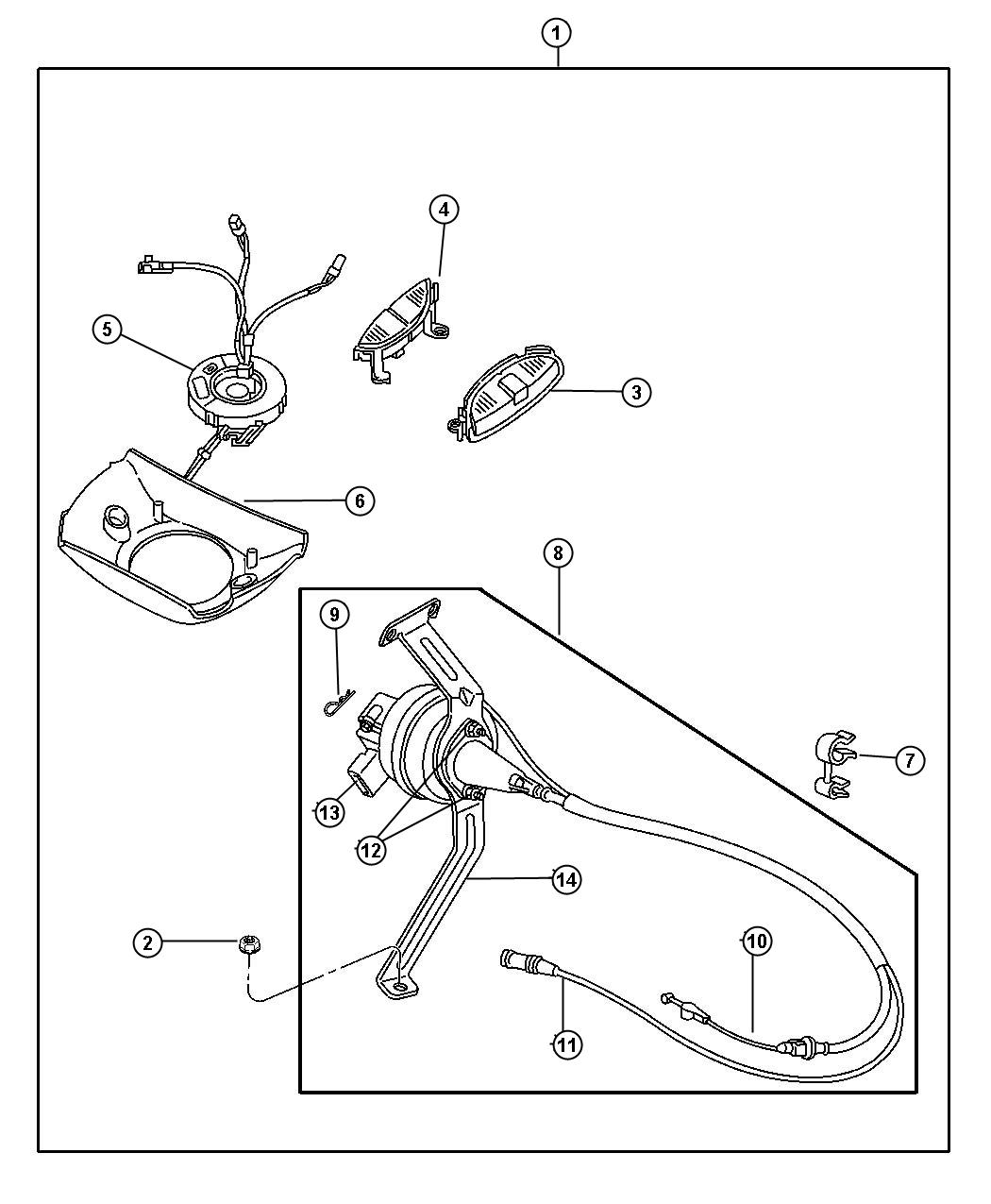 Dodge Durango Clkspring Switches Panel Instrument