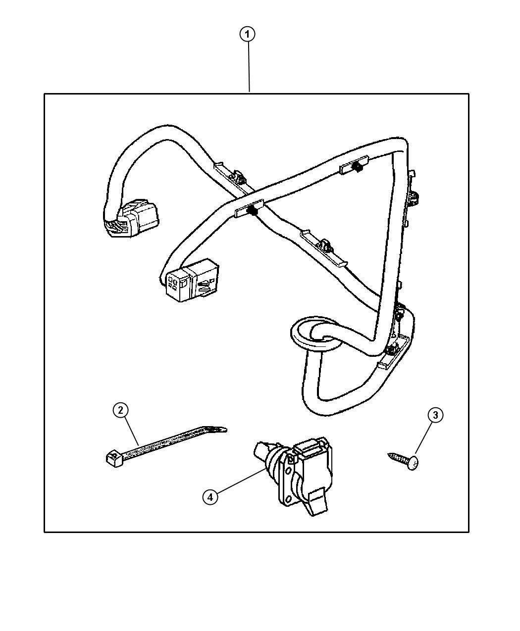 Dodge Dakota Wiring Kit Trailer Tow