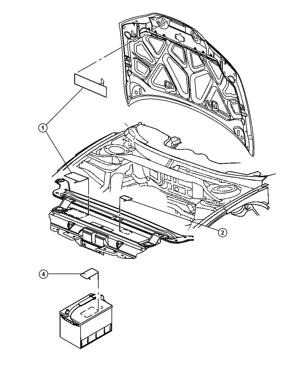Dodge Intrepid Label Battery Battery Warning Export