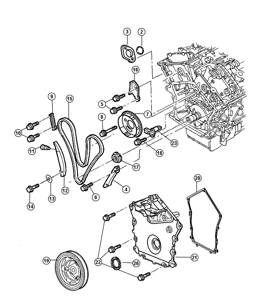 Dodge Stratus Guide Timing Chain Long
