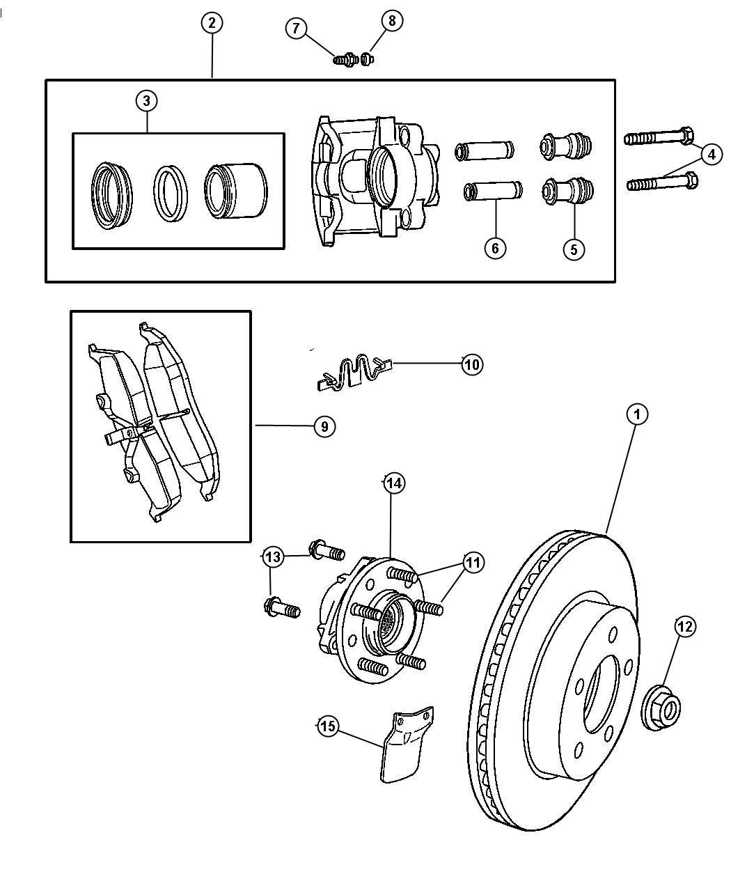 Dodge Intrepid Rotor Brake Magneti Marelli Wheel