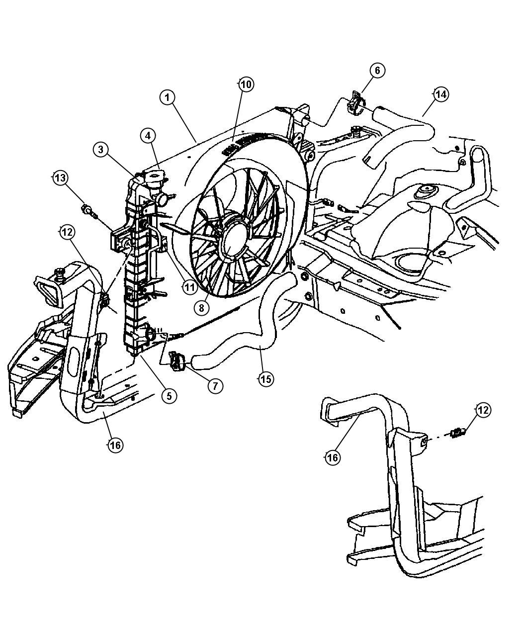 Dodge Durango Radiator Engine Cooling After 2 24
