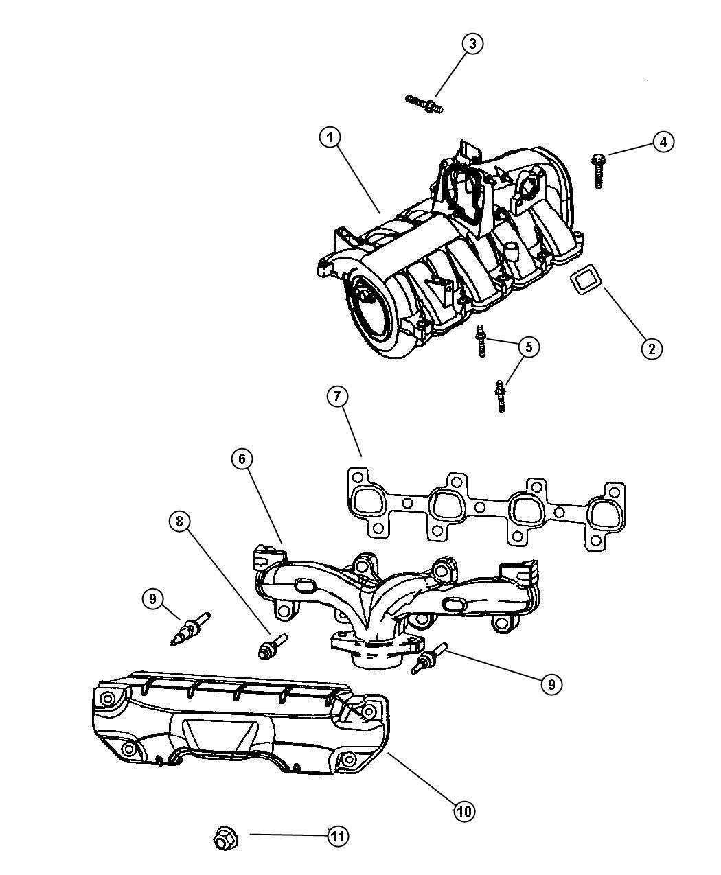 Jeep Grand Cherokee Manifold Exhaust Left