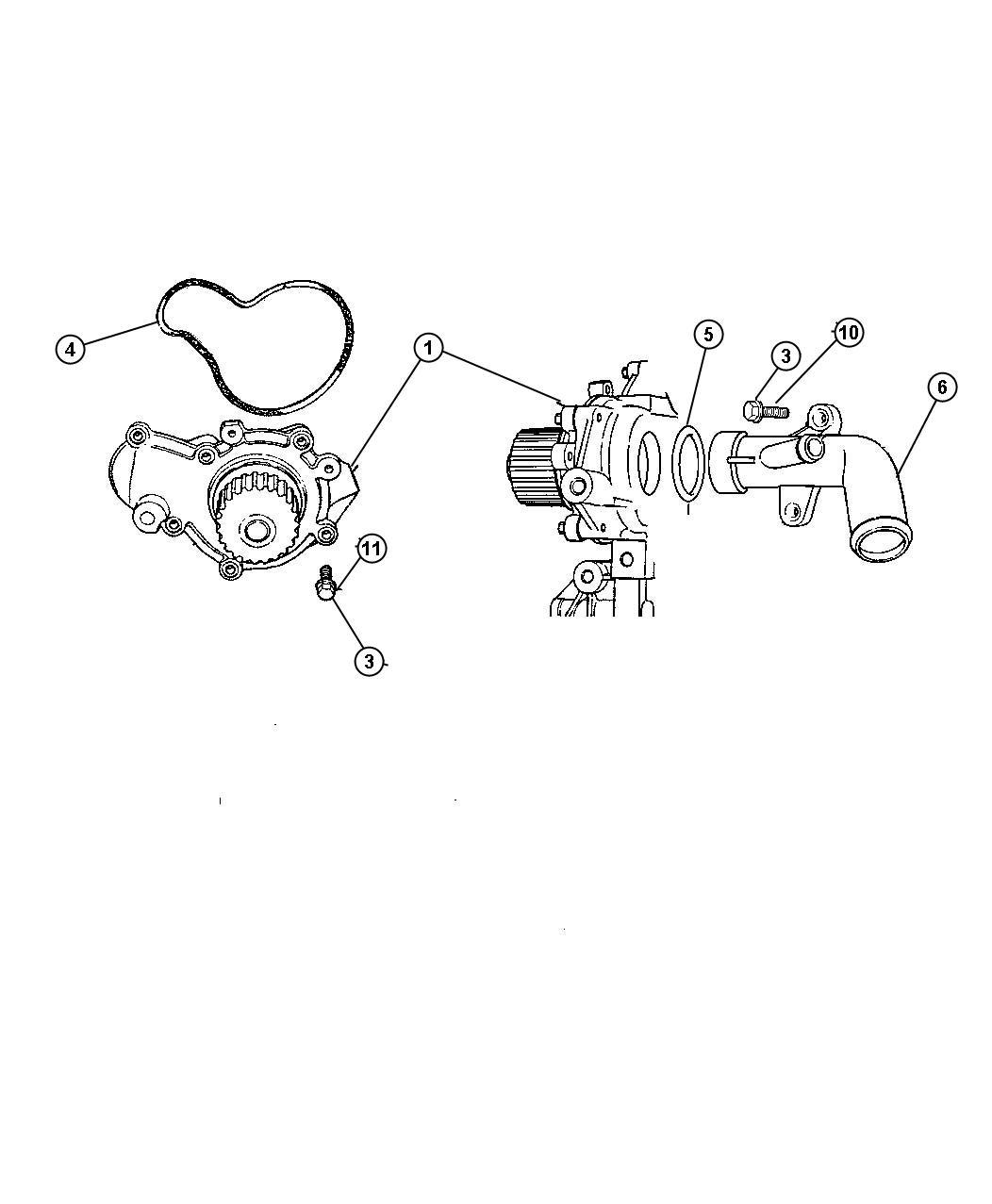 Chrysler Sebring Pump Water Engine