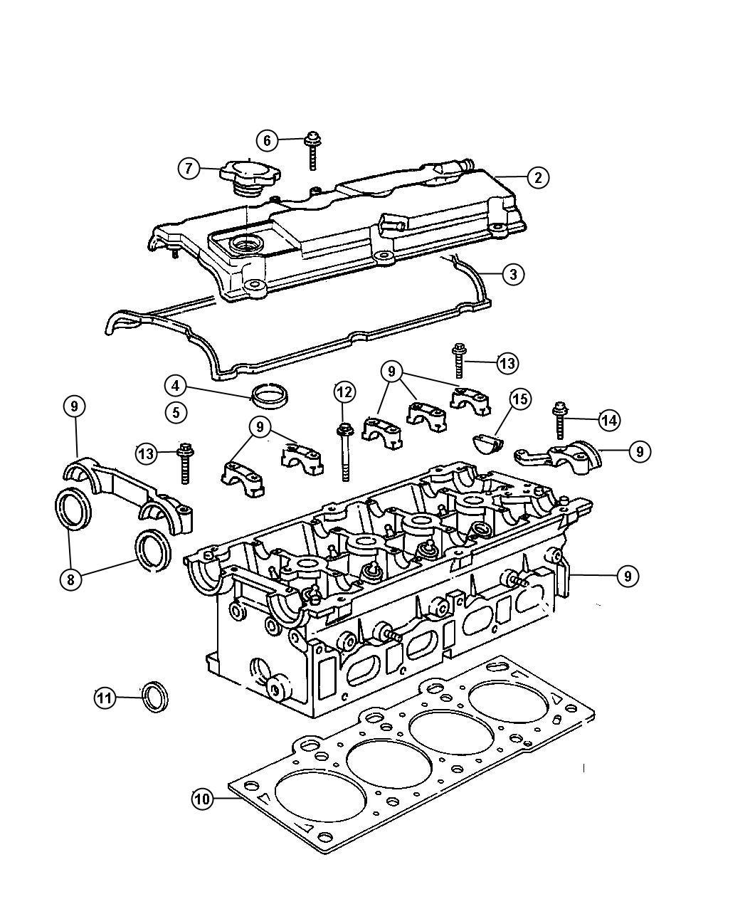 Dodge Stratus Gasket Cylinder Head Cover Valve
