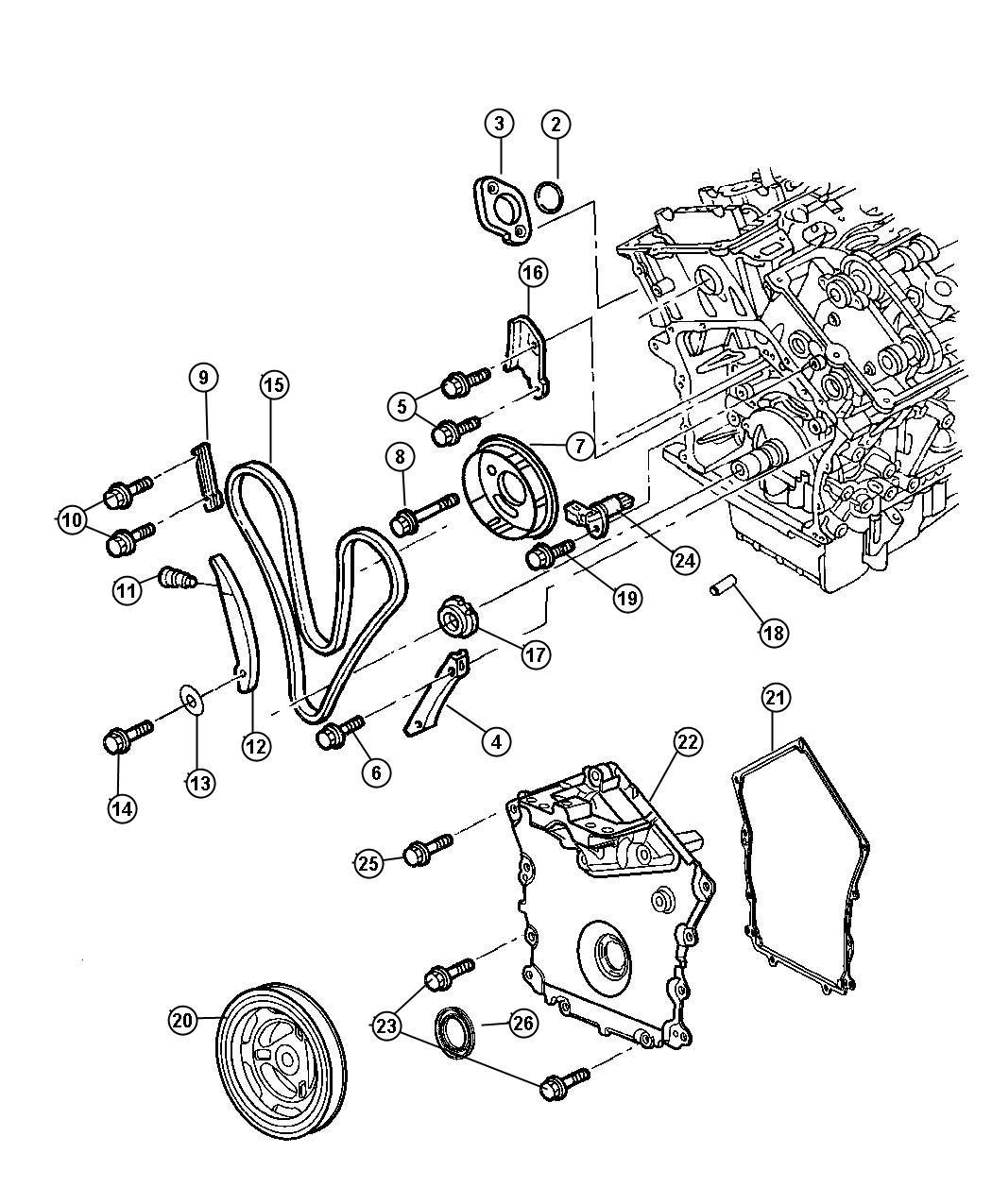 Chrysler Sebring O Ring Tensioner Timing Engine Chain