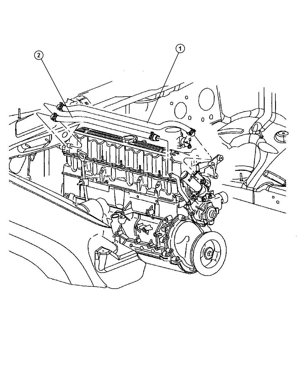 Jeep Grand Cherokee Hose Heater Return Hoses Air