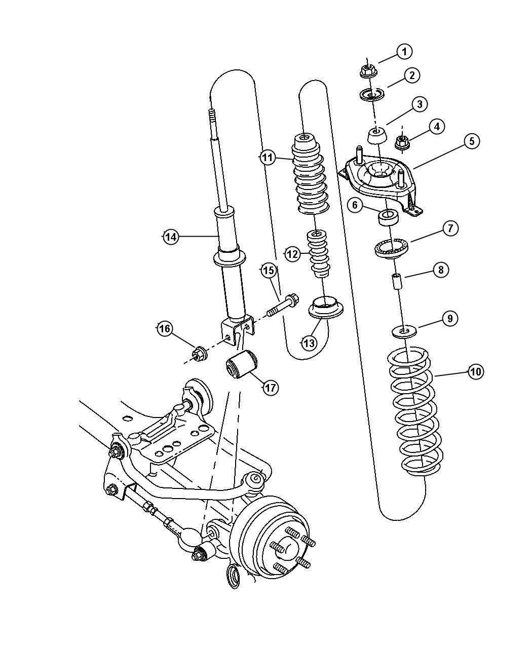 Chrysler Sebring Mount Strut Ecc Edz Ee0