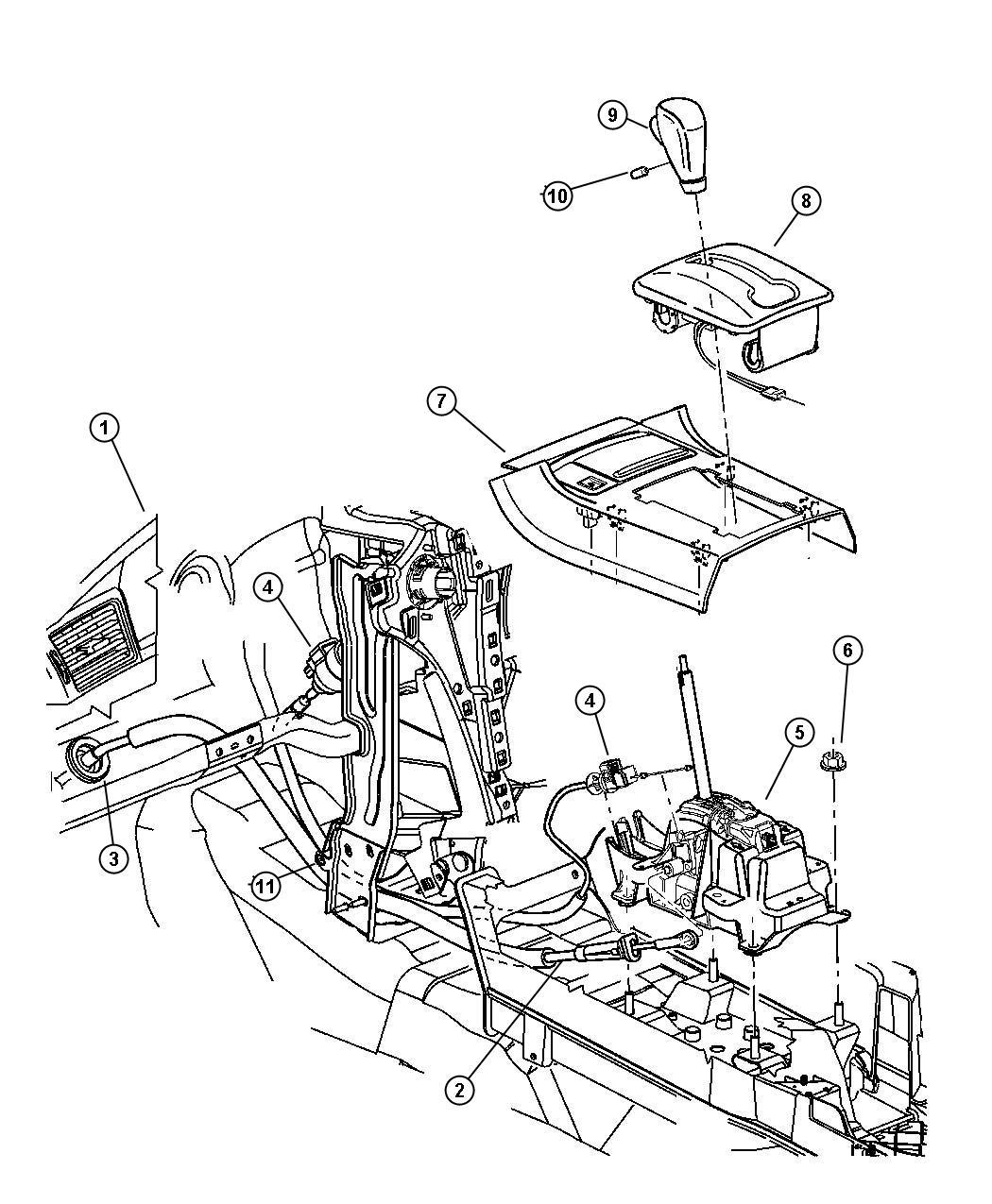 Chrysler Pacifica Knob Gearshift Trim All Trim Codes Color No Description Available