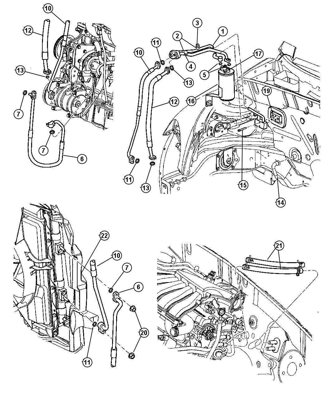 Chrysler Pt Cruiser Tube Drain Evaporator Tube A C Unit Drain Tube A C Drain Tube