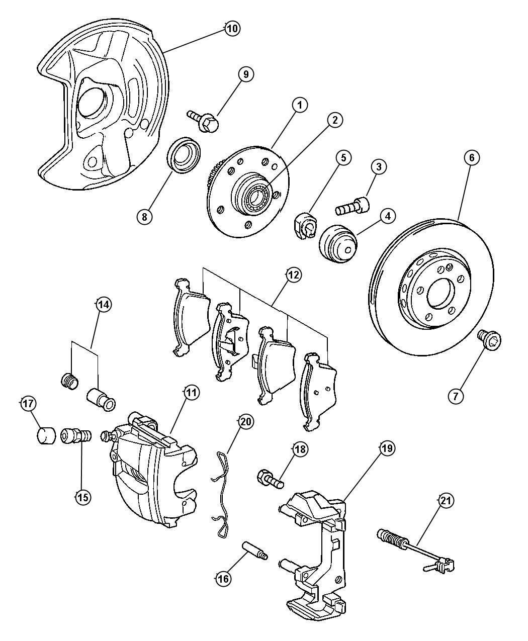 Chrysler Crossfire Rotor Brake Engine