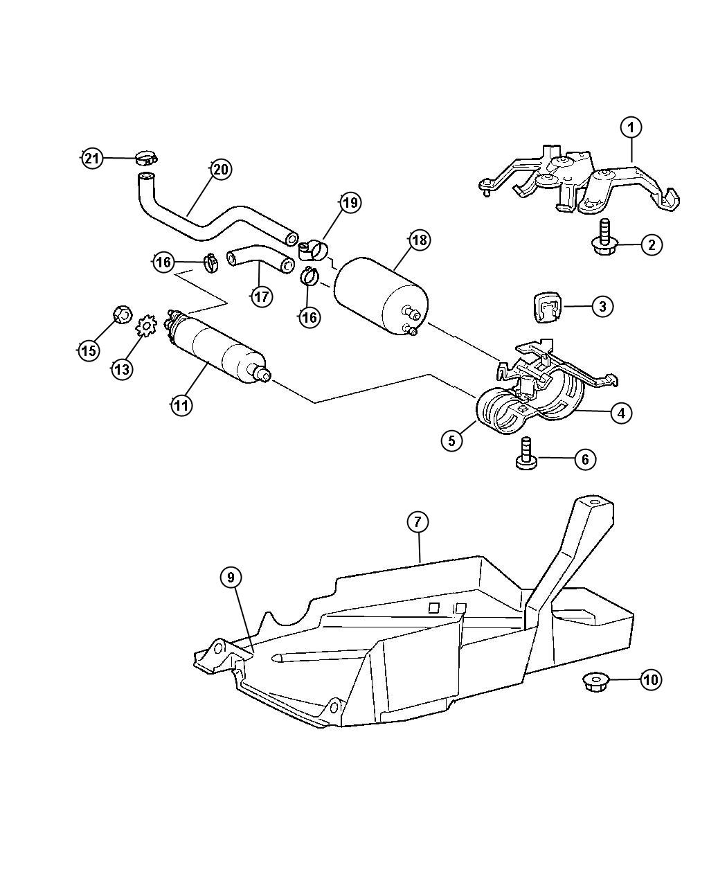 Chrysler Crossfire Filter Fuel Engine Maintenance