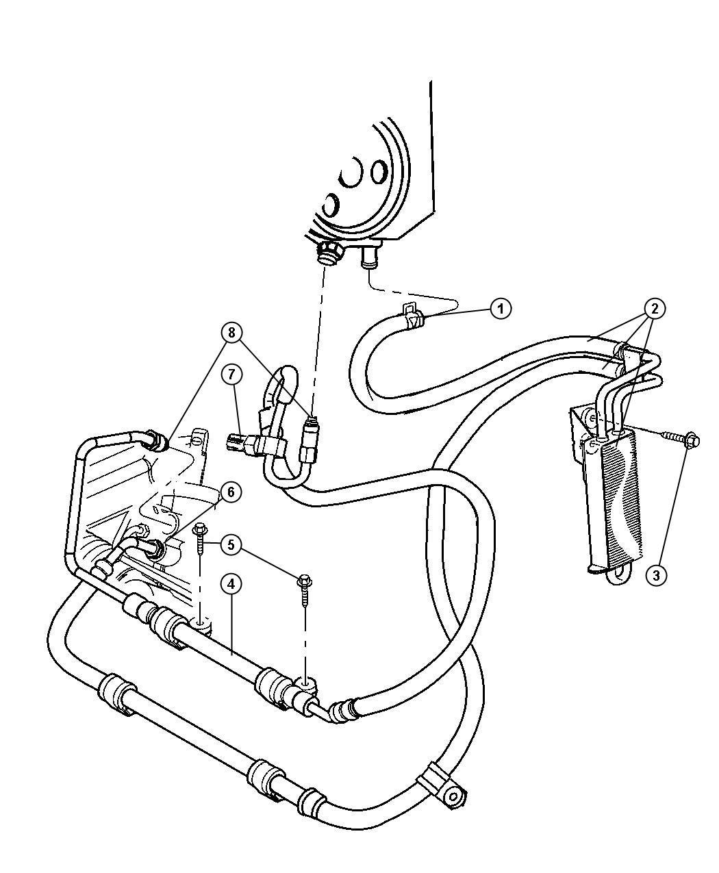 Jeep Grand Cherokee Cooler Power Steering Return