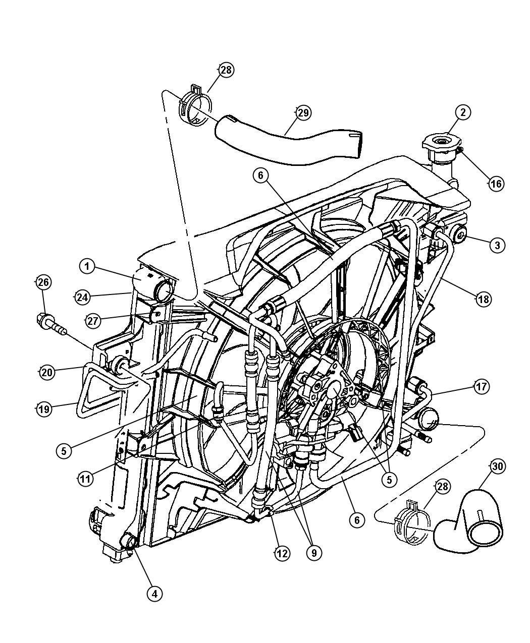 Chrysler Sebring Radiator Engine Cooling Related