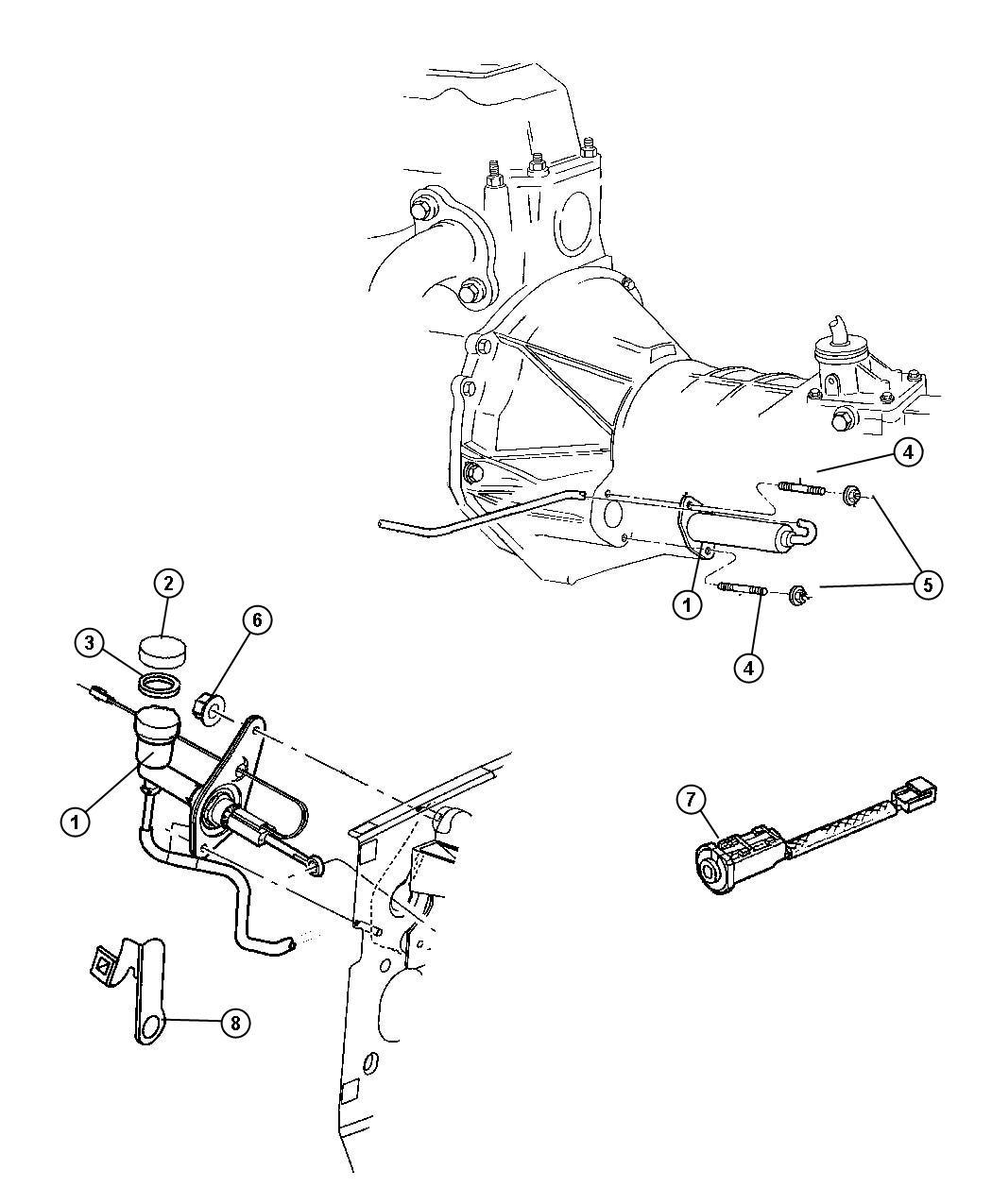 Jeep Liberty Hydraulic Control Clutch Actuator